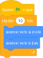 exemple d'utilisation de Scratch